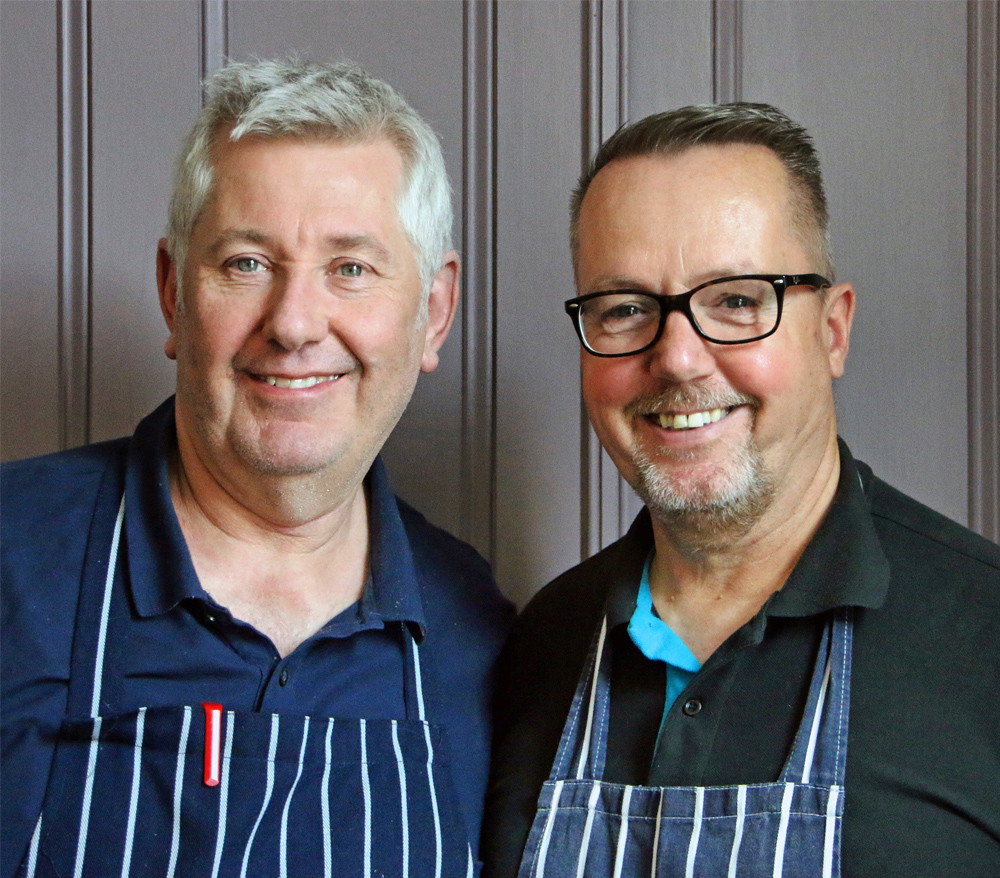 Nick and Ian of the V Café