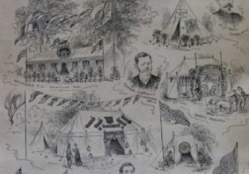 Southern Counties Cyclists Camps in Shalford Park (1886-87)