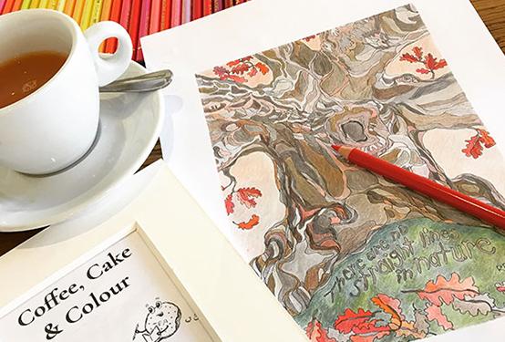 Coffee colour cake