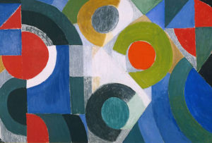 riptych 1963 by Sonia Delaunay 1885-1979