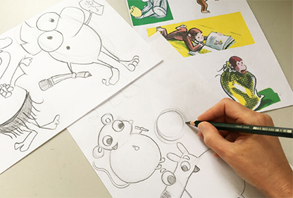 Discover your inner cartoonist Guess Who's Coming to Lunch!