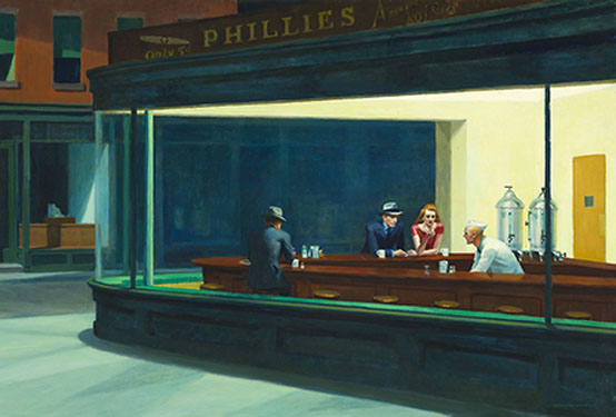 Edward Hopper - Painting Lonely Street