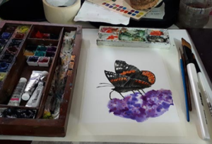 Core Skills- Watercolour- Paint a Butterfly (Access to video tutorial)